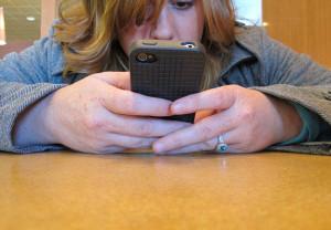 Teen-on-phone
